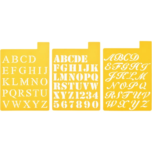 Stencil Mania Stencils 7inX10in 3/PkgFonts 1in