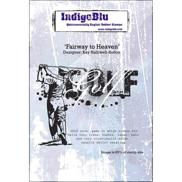 IndigoBlu Cling Mounted Stamp 5inX4inFairway To Heaven