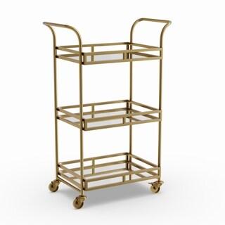 Sterling Goldtone Metal Bar Cart