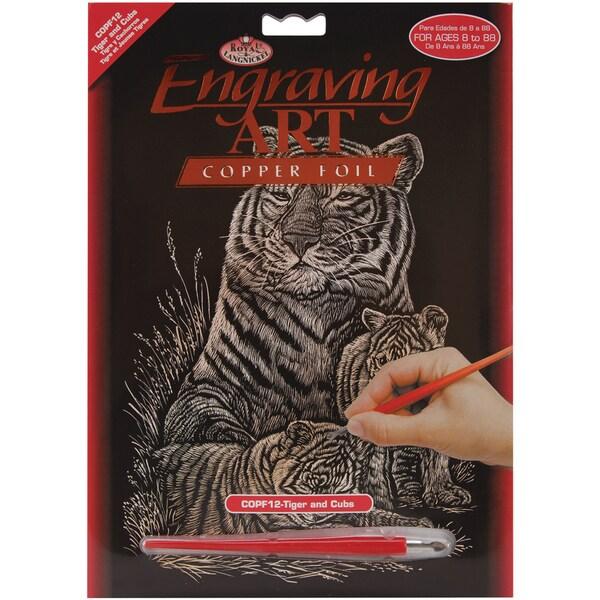 Copper Foil Engraving Art Kit 8inX10inTiger & Cubs