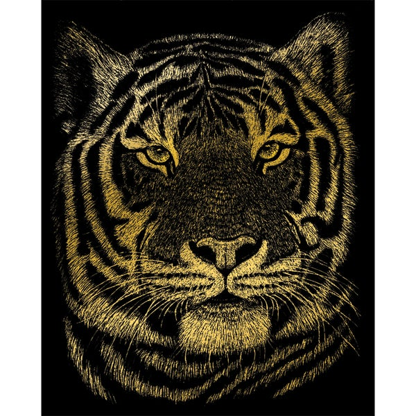 Gold Foil Engraving Art Kit 8inX10inBengal Tiger