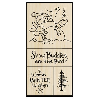 Stampendous Mounted Rubber Stamp Set 5inX2.75inSnow Buddies