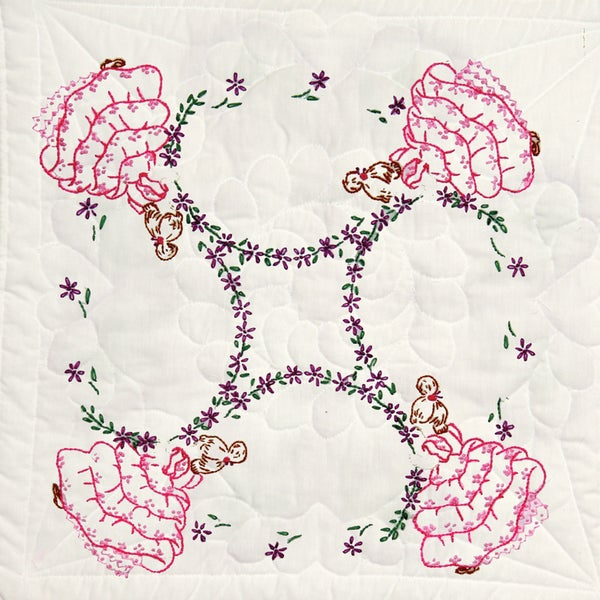 Stamped Quilt Blocks 18inX18in 6/PkgFour Ladies