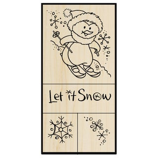 Stampendous Mounted Rubber Stamp Set 5inX2.75inSnow Penguin