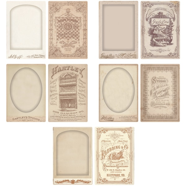 IdeaOlogy Cabinet Card Frames 5/PkgHolds 4inX6in Photos