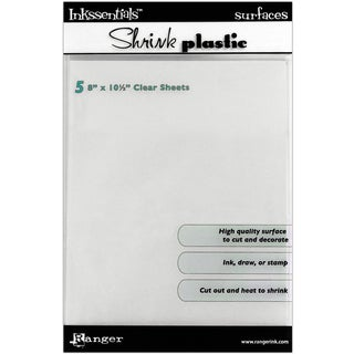 Inkssentials Shrink Plastic Sheets 8inX10in 5/PkgClear