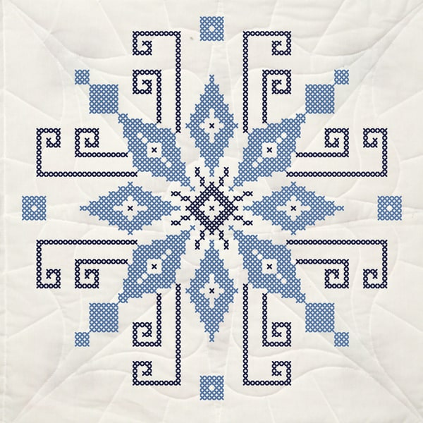 Stamped Quilt Blocks 18inX18in 6/PkgCross Stitch Wheel