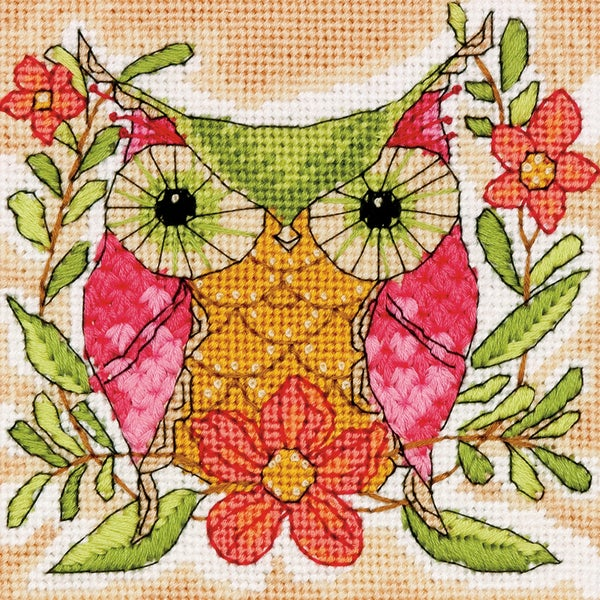 Whimsical Owl Mini Needlepoint Kit5inX5in Stitched In Thread 16257421