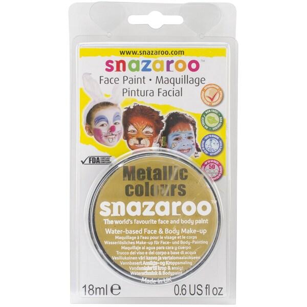 Snazaroo Metallic Face Paint 18mlGold