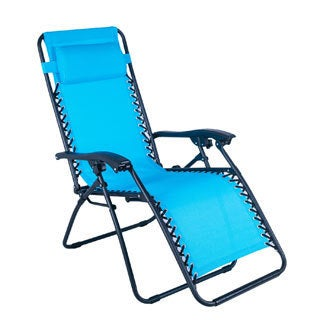 Adeco Outdoor Folding and Reclining Zero Gravity Curve Armrest Chair