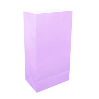 Flame Resistant Lavender Luminaria Bags (100 Count)
