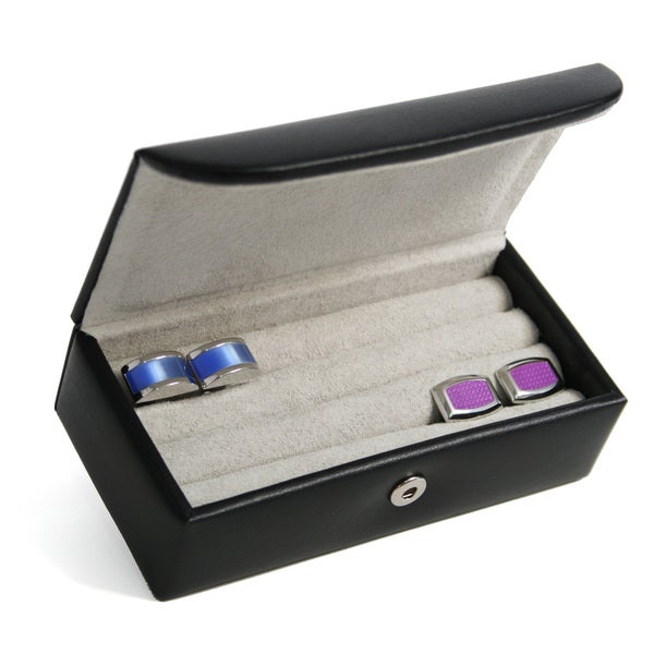 Royce Leather Luxury Suede Lined Cufflink Box