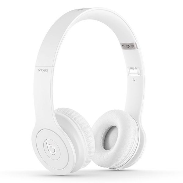 Beats by Dre Solo HD Drenched in White On-ear Headphones