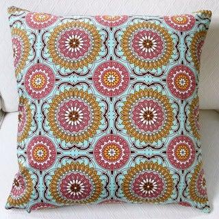 Artisan Pillows Indoor 20-inch Doily in Mint Modern Geometric Circles Throw Pillow