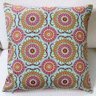 Artisan Pillows Indoor 20-inch Doily in Mint Modern Geometric Circles Accent Throw Pillow Cover