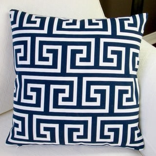 Artisan Pillows Indoor/Outdoor 20-inch Maze Navy Blue/White 20-Inch Throw Pillow Cover (Set of 2)