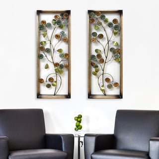 Stratton Home Decor Circle Vines Panel Wall Decor