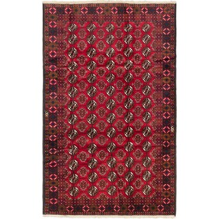 Ecarpetgallery Khal Mohammadi Red Wool Elephant Foot Rectangular Rug (6'6 x 10'5)