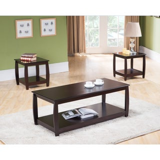 K&B T93 Cocktail and End Table Set (Set of 3)