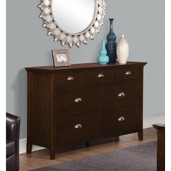 Wyndenhall Normandy Bedroom Dresser in Tobacco Brown