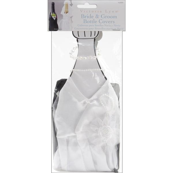 Bride & Groom Bottle Covers