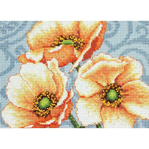 Windflowers Mini Counted Cross Stitch Kit7inX5in 14 Count 16259936