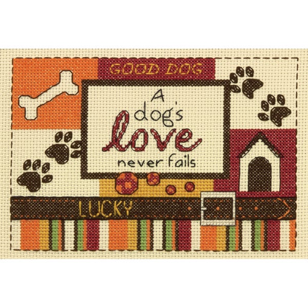 A Dog's Love Mini Counted Cross Stitch Kit5inX7in 14 Count 16259937