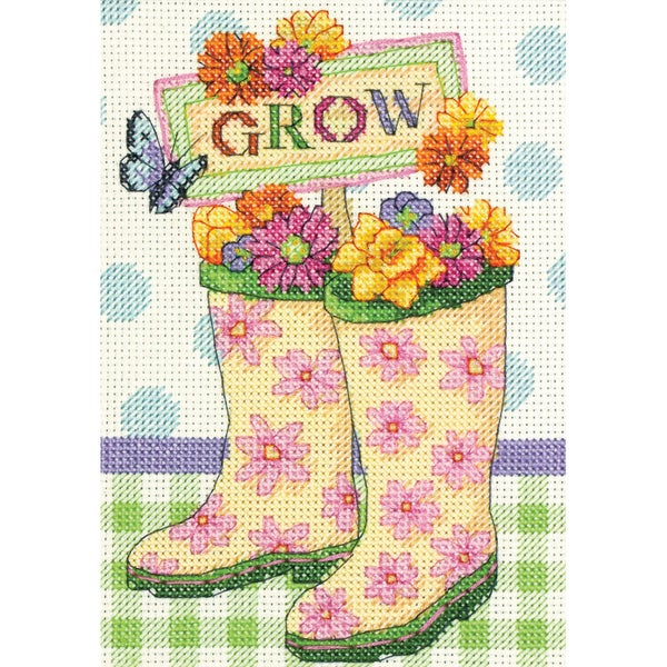 Grow Mini Counted Cross Stitch Kit5inX7in 14 Count 16259945