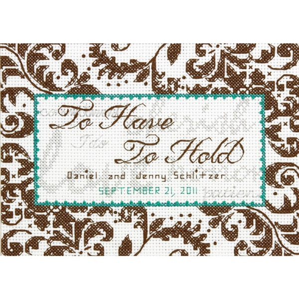 Treasured Words Wedding Record Mini Counted Cross Stitch Kit7inX5in 14 Count 16259955
