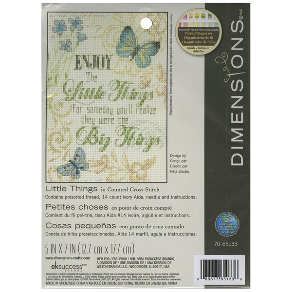 Little Things Mini Counted Cross Stitch Kit5inX7in 14 Count 16260047