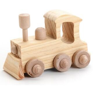 Wood Toy KitLocomotive 4inX2.75in