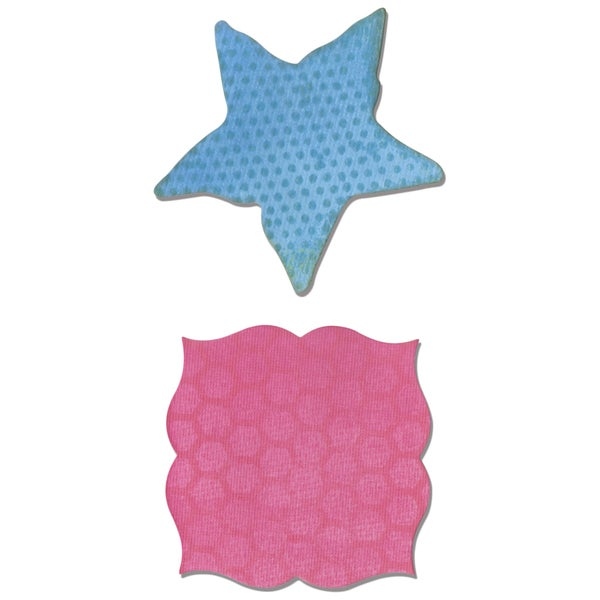 Sizzix Movers & Shapers Magnetic Dies 2/PkgLabel & Starfish