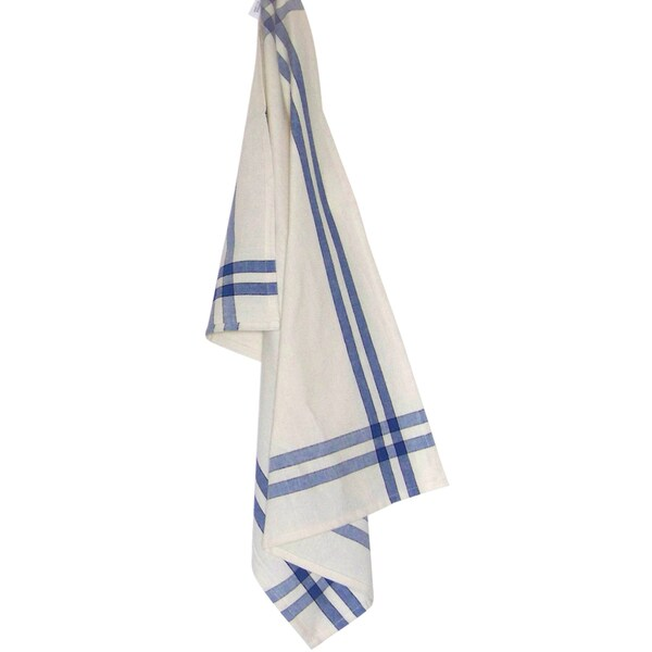 Cream Towel 20inX28inProvencial Blue Stripe