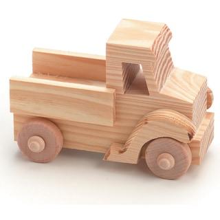 Wood Toy KitTruck 4inX2.75in