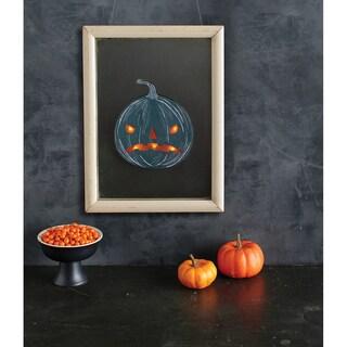 Light Up Pumpkin Mirror Cling 1/PkgSpooky Night