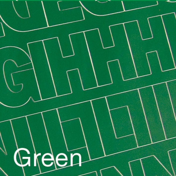Permanent Adhesive Vinyl Letters & Numbers 3in 160/PkgGreen