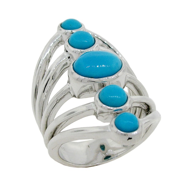 Sterling Silver Modern Sleeping Beauty Turquoise Ring