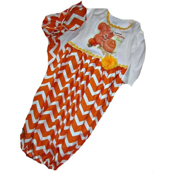 1st Thanksgiving Baby Girl Newborn Layette Set