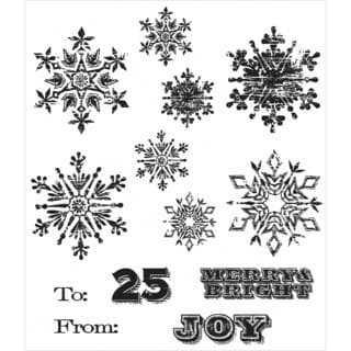 Tim Holtz Cling Rubber Stamp Set 7inX8.5inMini Weathered Winter