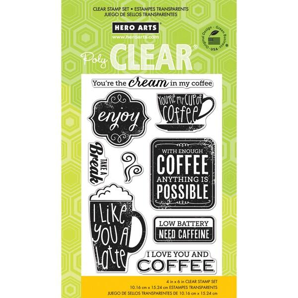 Hero Arts Clear Stamps 4inX6in SheetNeed Caffeine