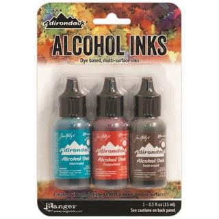 Adirondack Brights Alcohol Ink .5oz 3/PkgMarinerIndigo/Mermaid/Teakwood