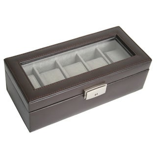 Royce Leather 5-slot Watch Box Display Case