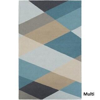 Hand-Tufted Antioch Wool Rug (9' x 13')