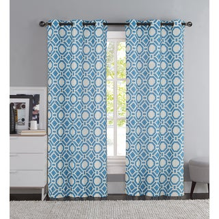 VCNY Taylor Printed Faux Silk Curtain Panel Pair