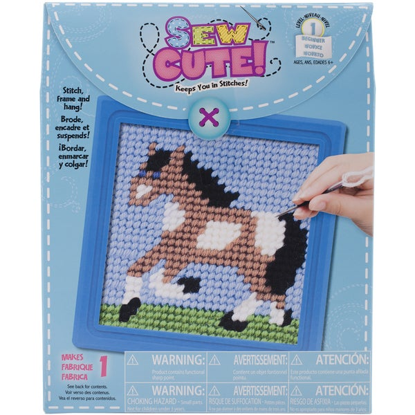 Horse Learn To Sew Needlepoint Kit6inX6in Stitched In Yarn 16260999