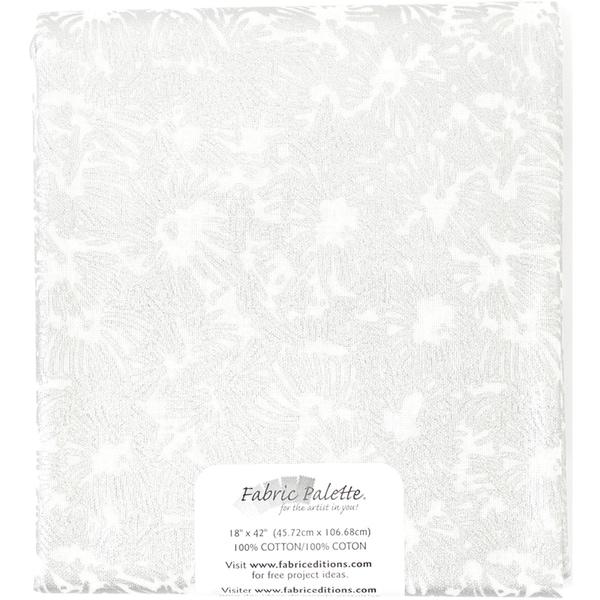 Melodic Floral Precut 18inX42in 1/PkgMelodic Floral C White
