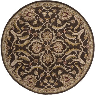 Hand-Tufted Blyth Floral Wool Rug (3'6 Round)