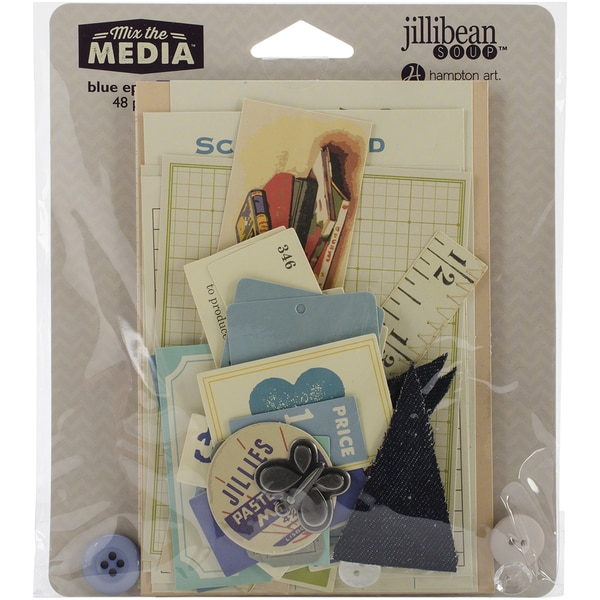 Mix The Media Ephemera PackBlue
