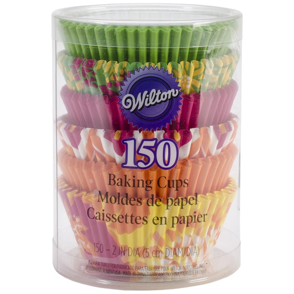 Standard Baking CupsNeon Florals 150/Pkg 16261212