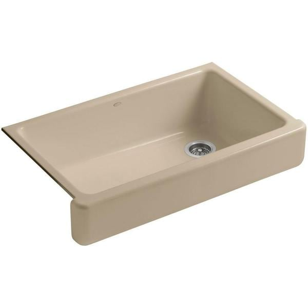 ... Undermount Cast Iron 29-1/2 inch 0-Hole Single Bowl Kitchen Sink in
